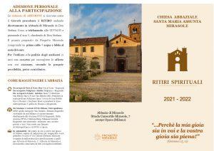 VOLANTINO RITIRI SPIRITUALI 2021-2022 Abbazia di Mirasole_page-0001